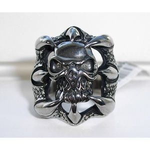 Other - STAINLESS STEEL Men's Gothic Skull Claw Biker Ring